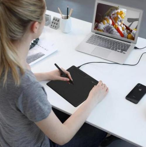 GAOMON S620 tableta Digital con bolígrafo de 6,5x4 pulgadas, tableta gráfica de Anime para dibujo y